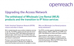 Upgrading the Access Network - 2025 Switch Off